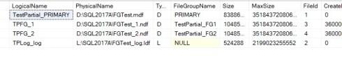 Filegroups Within Backup